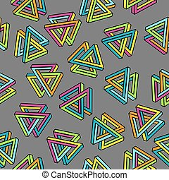 Vector Pattern 80s. Geometric Seamless Abstract Background. Retro Memphis Style 1980s.