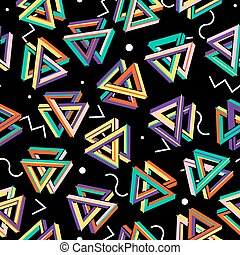 Vector Pattern 80s. Seamless Background. Retro Memphis Style.