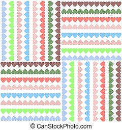 vector pattern background with hearts