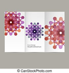 Vector pattern flyer with abstract figures