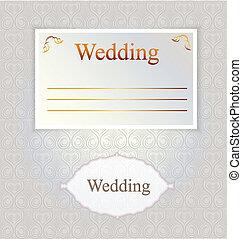 Vector pattern for wedding invitation