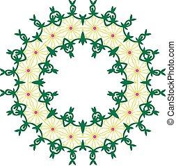 vector pattern in Oriental style