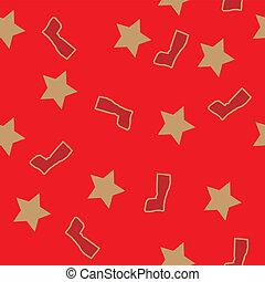 vector, pattern., kerstmis, seamless