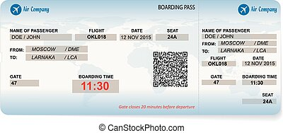 Vector pattern of a boarding pass - Vector illustration of...
