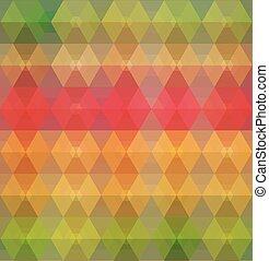 Pattern of geometric shapes.