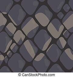 Vector Pattern of Grey Snake Skin with Ornaments