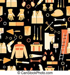 Vector Pattern of items for repair