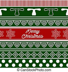 Vector Pattern of Merry Christmas