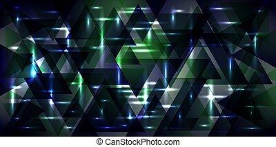Vector pattern of metal in cosmic blue tones.
