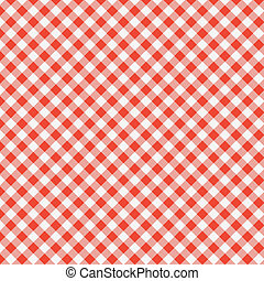 vector pattern of picnic tablecloth - vector pattern of red...