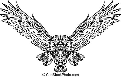 Vector pattern owl