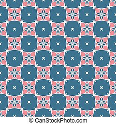 Vector pattern pink-blue geometric shapes on a white background