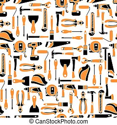 Vector pattern seamless of color builder equipment vector illustration