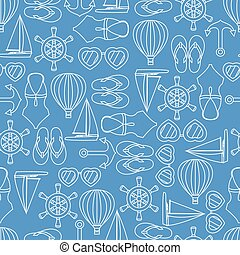 Vector pattern seamless texture of summer symbols