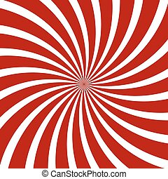 vector, pattern., spiraal, hypnose, optisch, illusion., rood