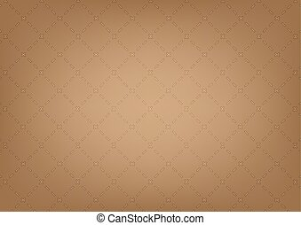 pattern texture. geometric with dotted rhombus on brown color background