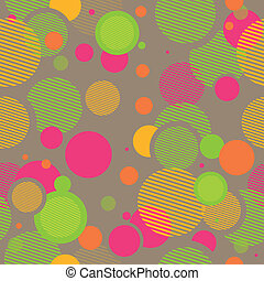 Vector Pattern with Abstract Elements