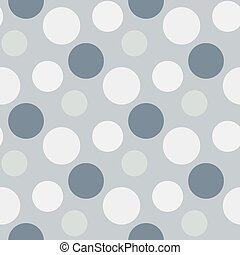 Pattern with green ,grey polka dots - Vector Pattern with ...
