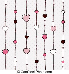 Vector pattern with hearts