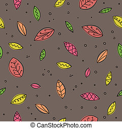Vector Pattern with Leafs