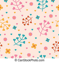 Vector Pattern with Nature Elements