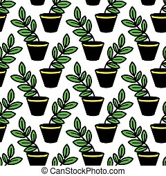 vector pattern with plants