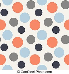 Vector Pattern with polka red,blue,grey dots - Vector...