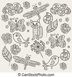 Vector Pattern with Simple Drawings