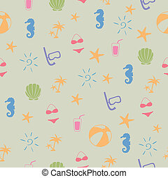 Vector Pattern with Summer Elements