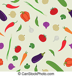 Vector Pattern with Vegetables