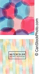 Vector pattern with watercolor light stripes