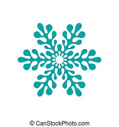 Vector Pattern with winter snowflakes