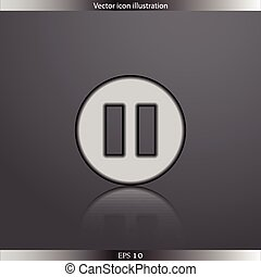 Vector pause web flat icon
