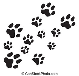 Vector paw prints
