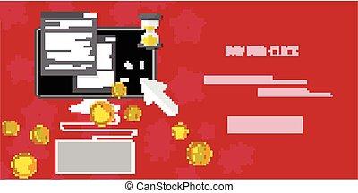 Vector pay per click concept