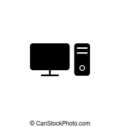 vector, pc, illustratie, mal, grafisch, pictogram