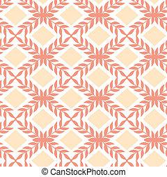 Peach orange argyle retro seamless pattern background