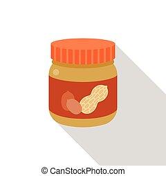 Vector peanut butter bottle icon