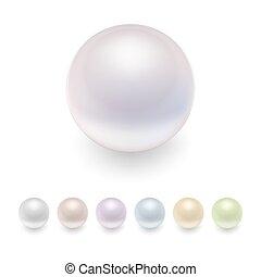 Vector pearls set.