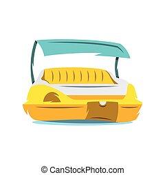 Vector Pedal Boat Cartoon Illustration