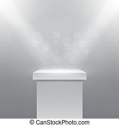 Vector Pedestal - Single empty pedestal or column under the...