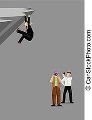 vector, pegajoso, ilustración, bystanders, cuadros, hombre, ...