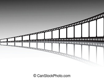 vector, película, ilustración, tira