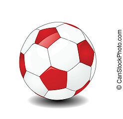 vector, pelota del fútbol