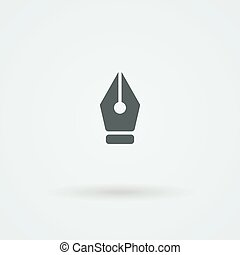 Vector pen icon.