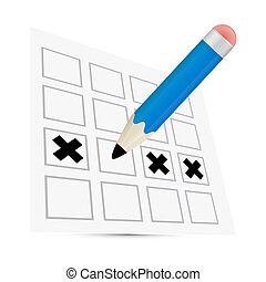 Vector Pencil Check Option Illustration