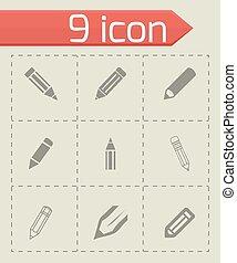 Vector pencil icon set
