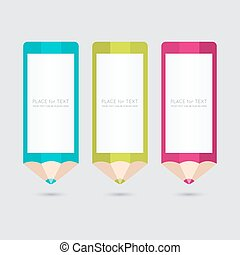 Vector pencil template with place for your content.