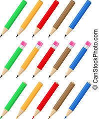 Vector pencils - Set of vector pencils on white background