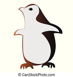 Vector penguin illustration